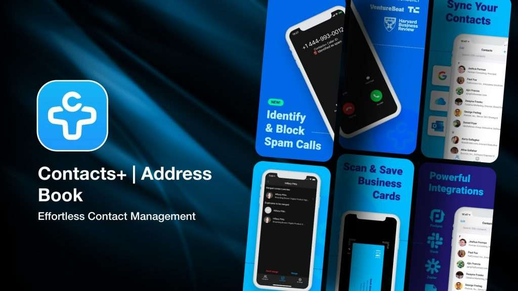 Contacts+ Address Book-app to save business card info on iPhone