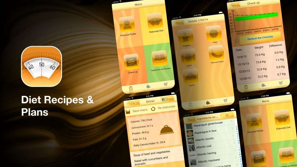 Diet Recipes & Plans-weight loss tracker apps for iPhone