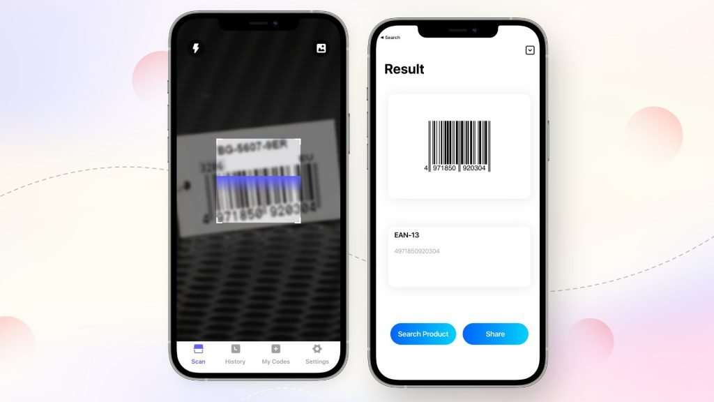how to scan a barcode with iPhone_QR Code Reader app