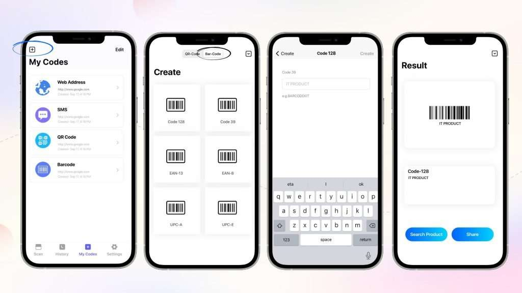 How to generate barcodes on iPhone_QR Code Reader app