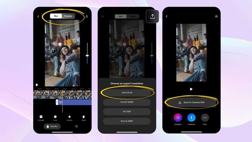 How to blur face in video on iPhone_Blur Video Editor