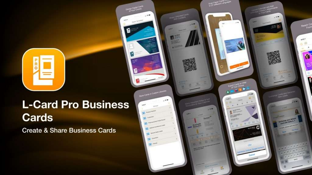 L-Card Pro Business Cards-app to save business cards info on iPhone