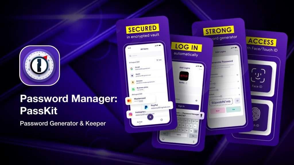 Password Manager - PassKit best password generator apps for iPhone