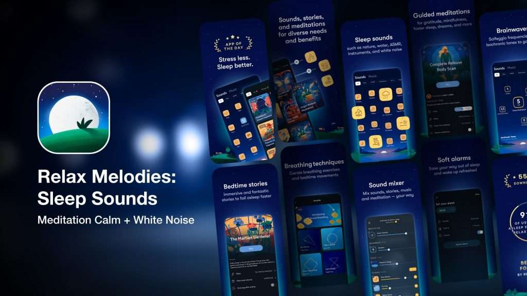 Relax Melodies Sleep Sounds-sleep apps for insomnia