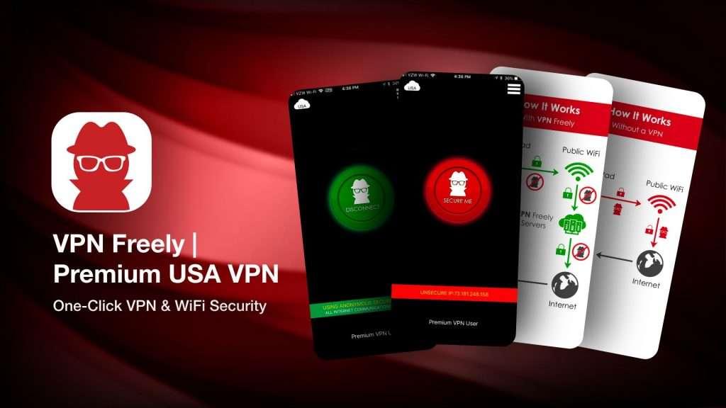 VPN Freely Premium USA VPN for iPhone