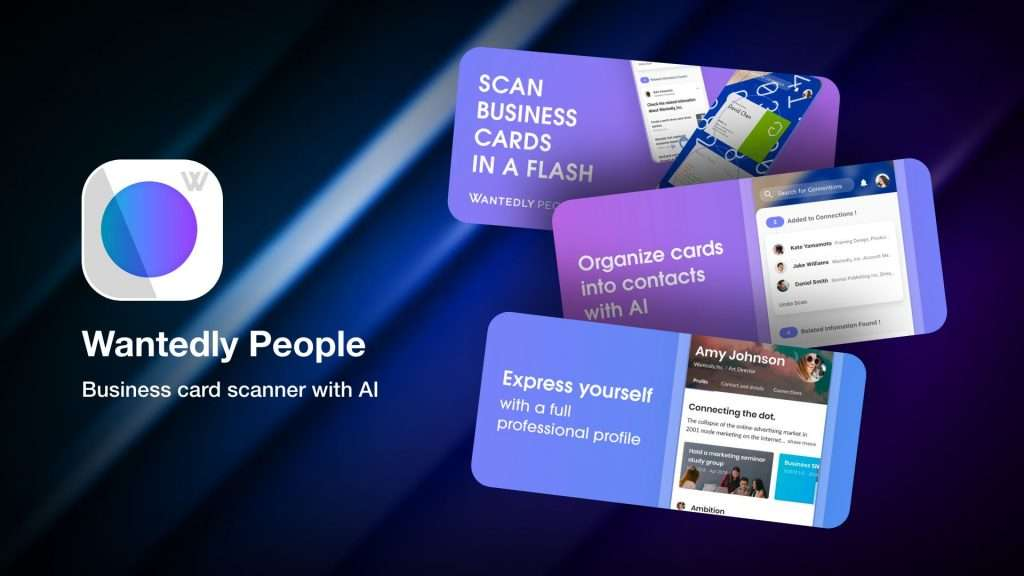 Apps to save business cards info on iPhone-Wantedly People