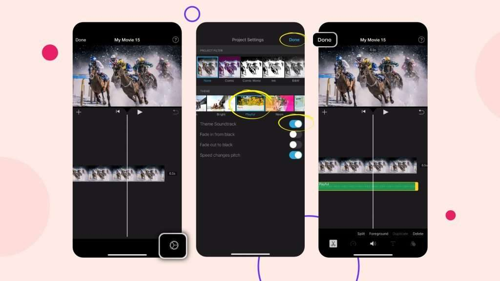Add music to videos with iMovie app 02