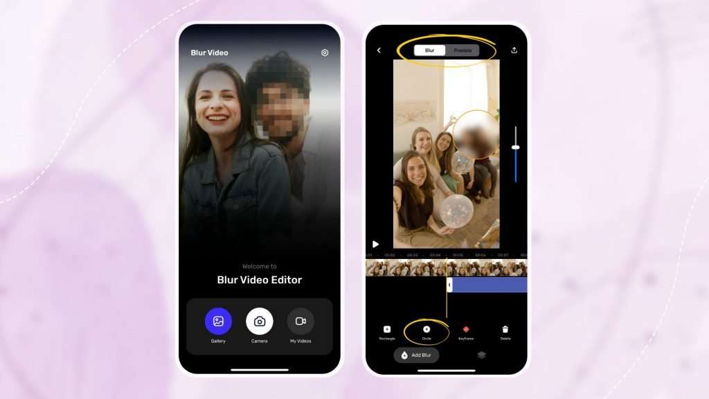 Steps on how to blur video on iPhone – Blur Video Background 01