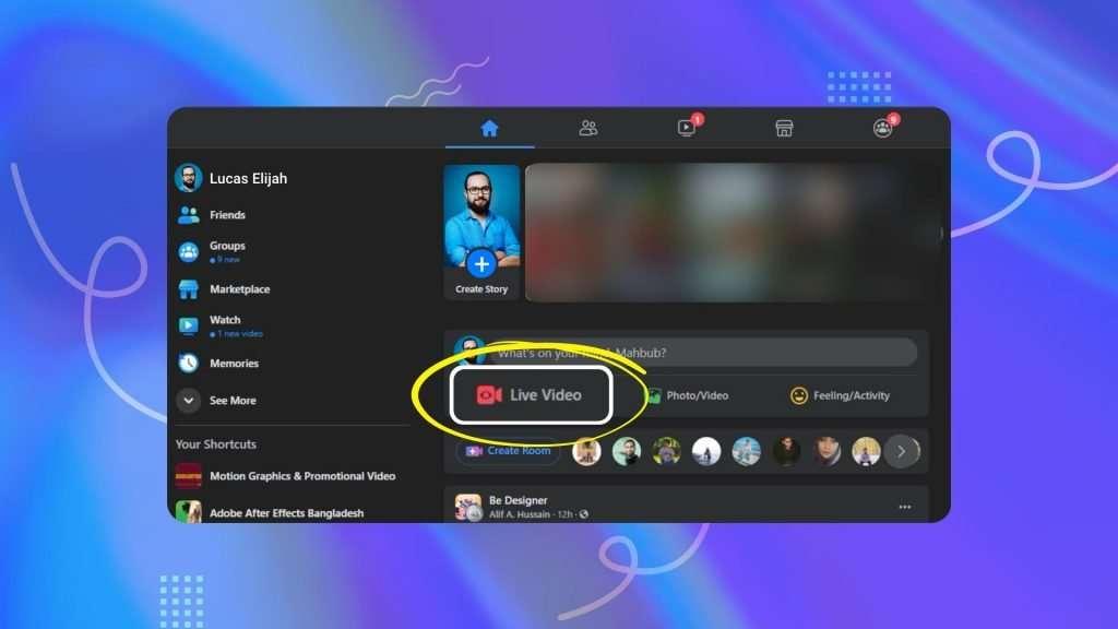 Facebook live streaming app