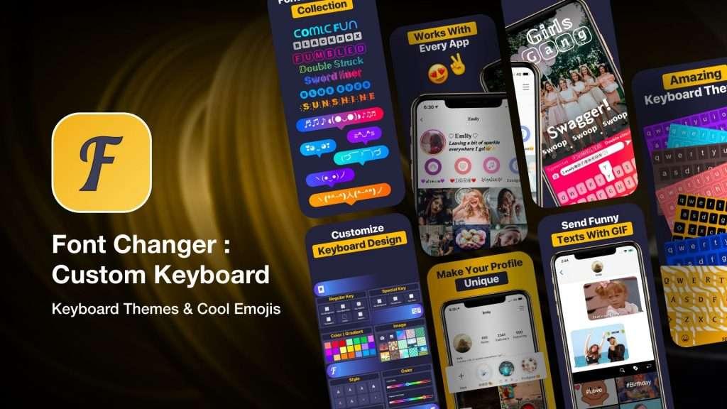 Font Changer Custom Keyboard fonts app for iPhone