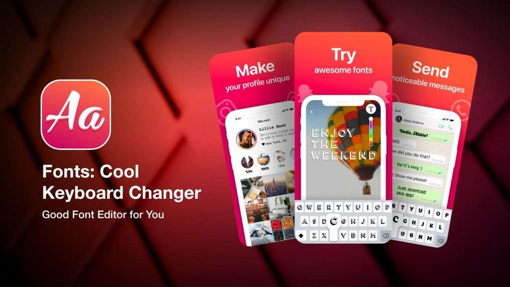 Fonts - Cool Keyboard Changer app for iPhone