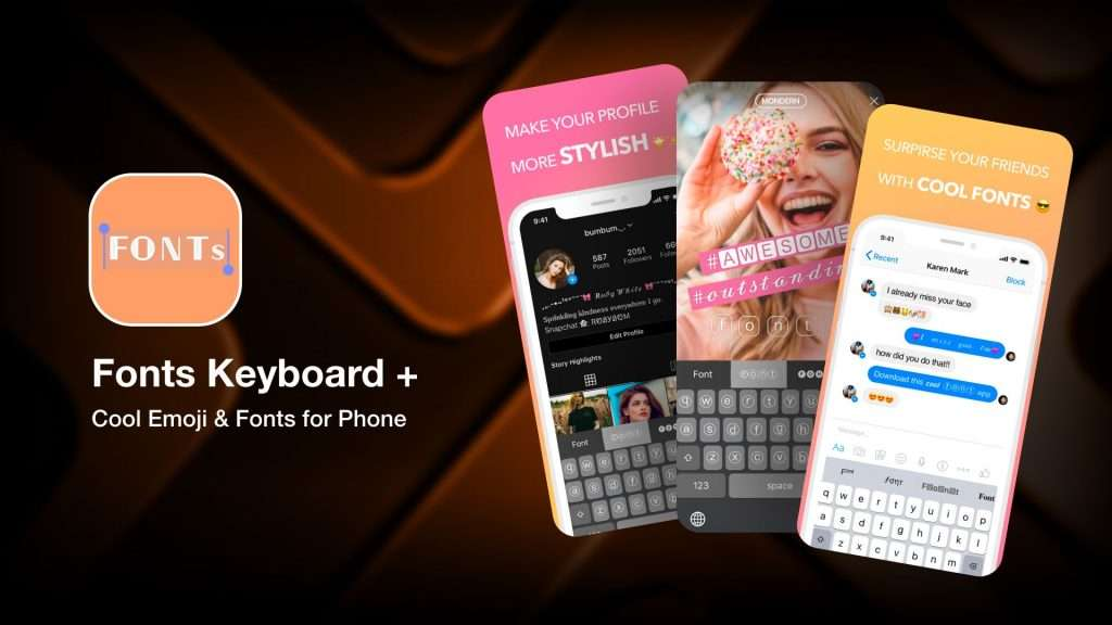 Fonts Keyboard + - font apps for iPhone