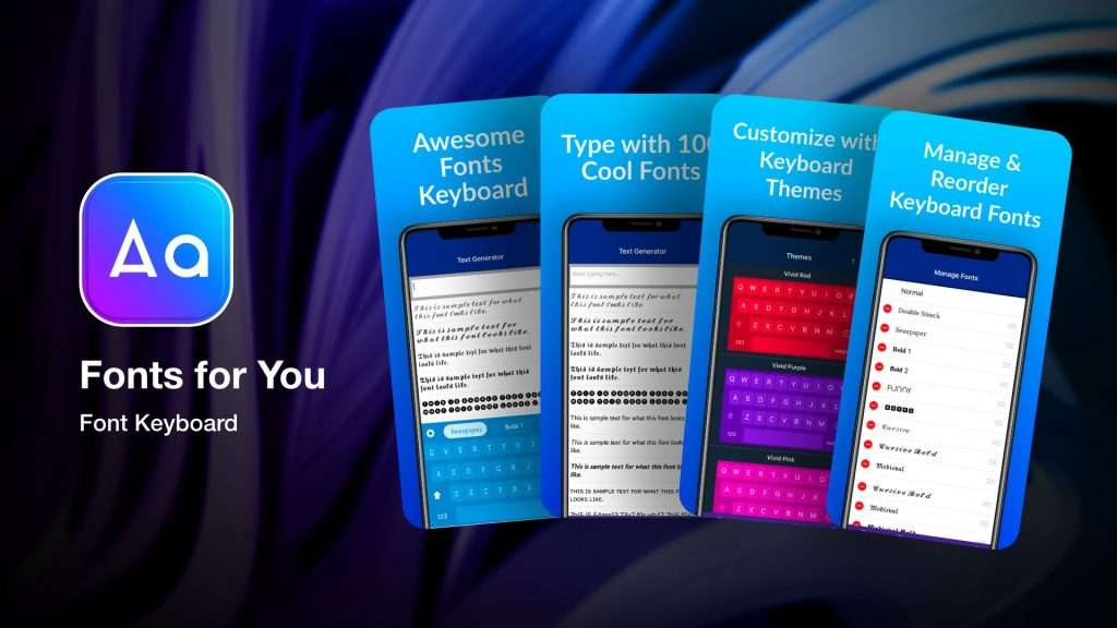 Fonts for You app for iPhone