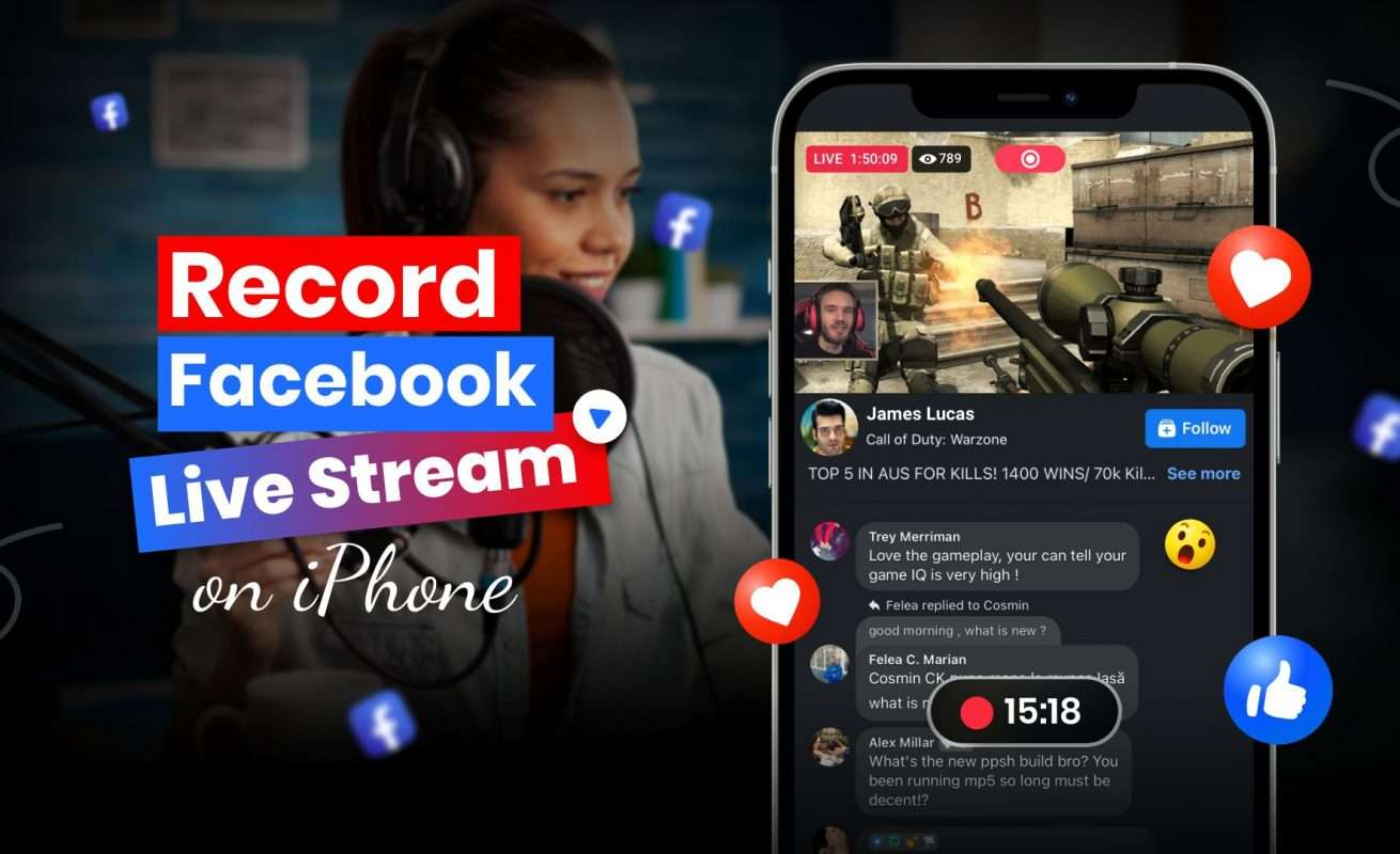 How to Record Facebook Live Stream on iPhone