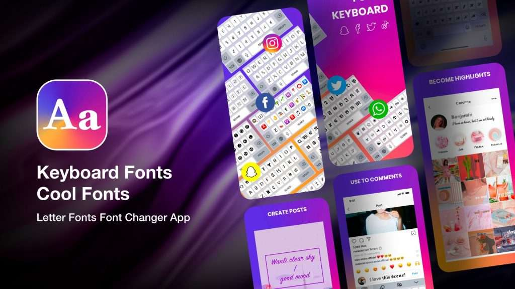 Keyboard Fonts Cool Fonts app for iPhone