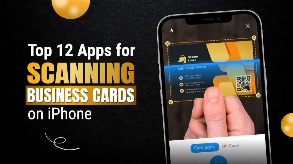 apps for scanning business cards on iPhone