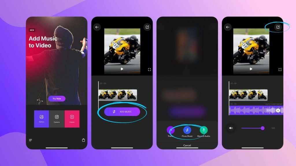 how to add background music to a video clip – Video Editor app
