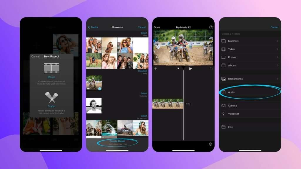 how to add song to a Youtube video on iPhone - iMovie 01