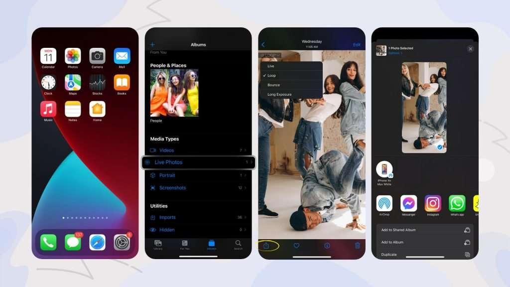 how to turn live photos into gifs with the iPhone Photos app